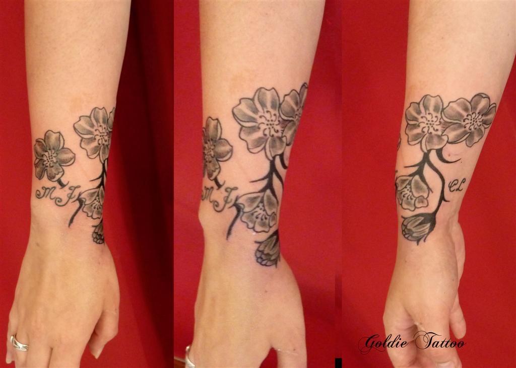 Tribal Tattoos X Tattoo Bracelet Fleur