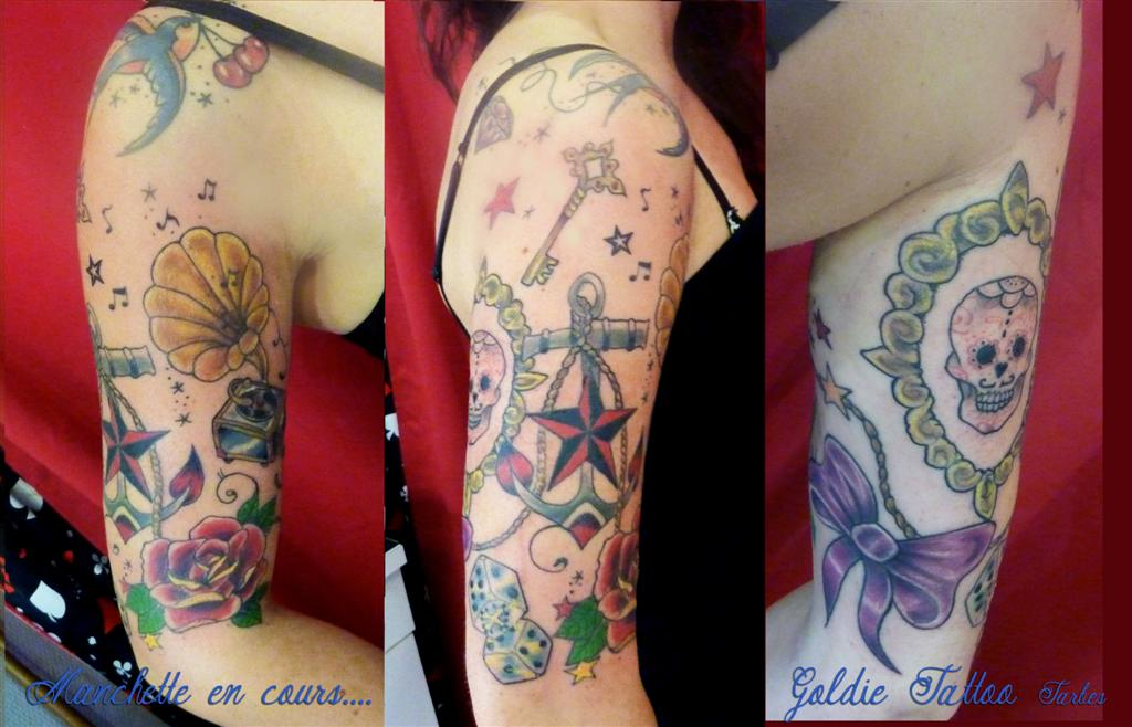 Tatouage manchette femme old school - Manchette tatouage femme ...