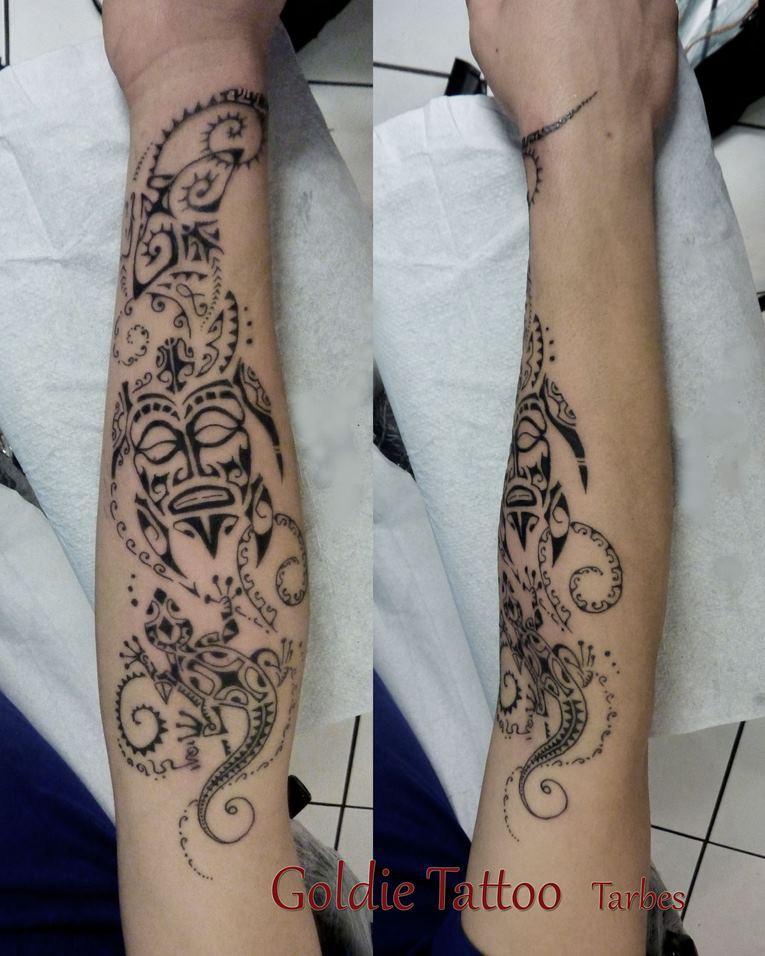 Tatouage maorie avant bras best tatouage polynesien by pierre martinez de tahiti tattoo - Tattoo maorie bras ...