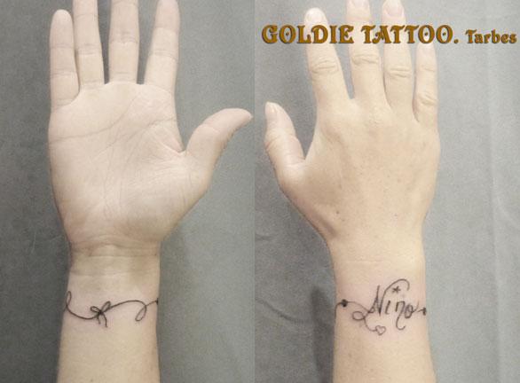 Ecritures Symboles Goldie Tattoo